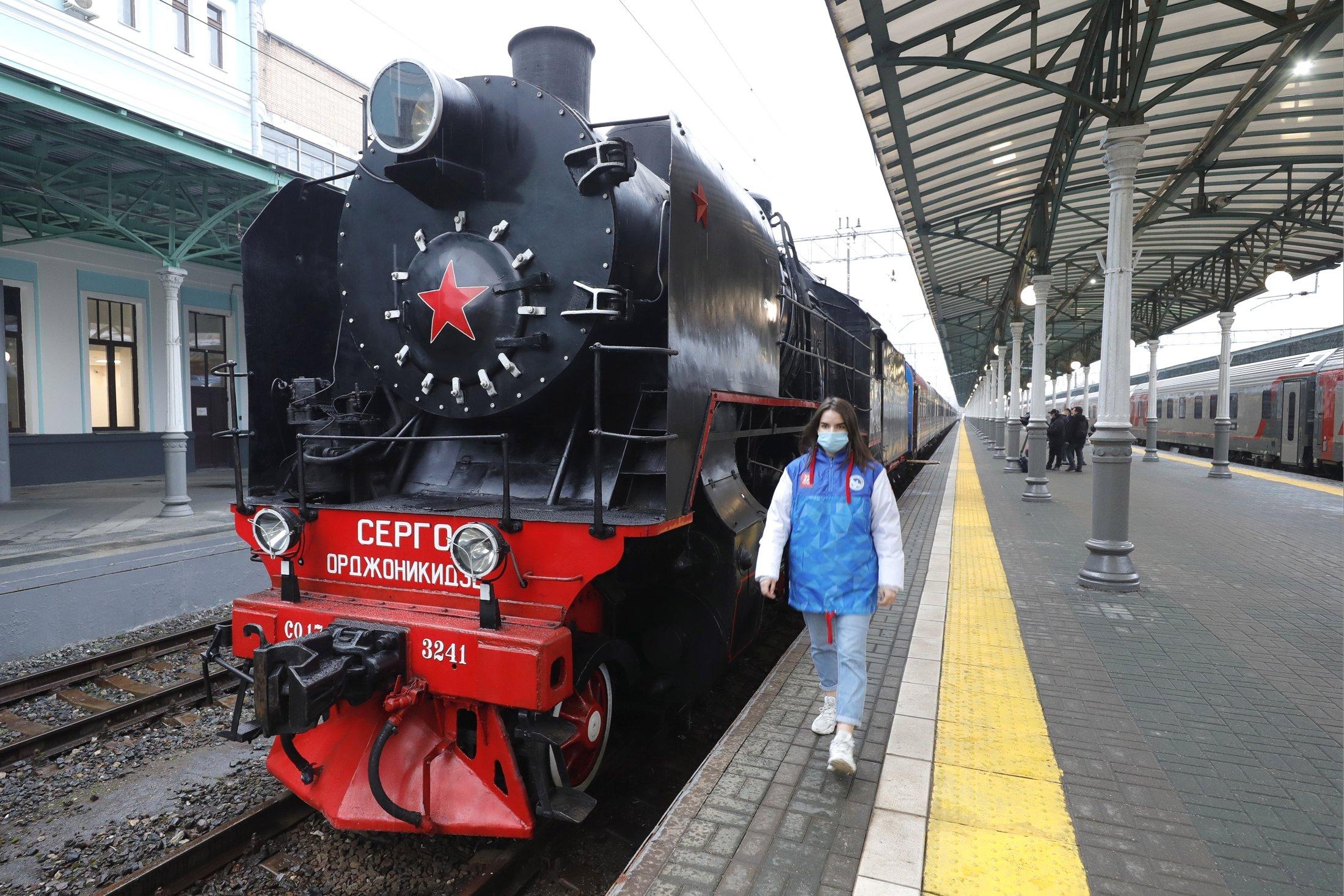 Поезд Победы прибыл в Севастополь